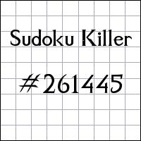 Zabójcze sudoku №261445
