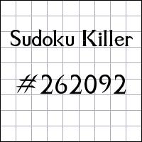 Zabójcze sudoku №262092