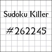 Zabójcze sudoku №262245