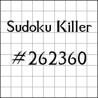 Zabójcze sudoku №262360