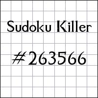 Zabójcze sudoku №263566