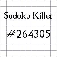 Zabójcze sudoku №264305