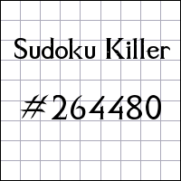 Zabójcze sudoku №264480