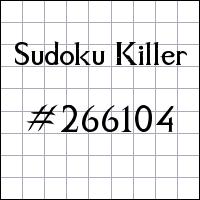 Zabójcze sudoku №266104
