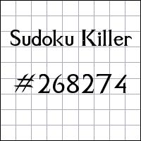 Zabójcze sudoku №268274