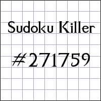 Zabójcze sudoku №271759