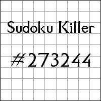 Zabójcze sudoku №273244