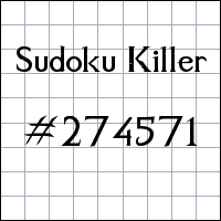 Zabójcze sudoku №274571