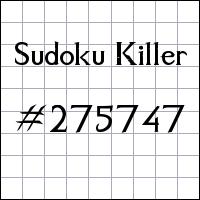 Zabójcze sudoku №275747