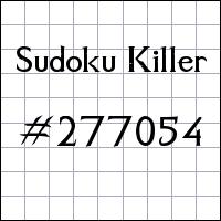 Zabójcze sudoku №277054