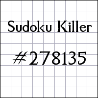 Zabójcze sudoku №278135