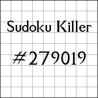 Zabójcze sudoku №279019