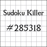 Zabójcze sudoku №285318
