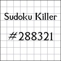 Zabójcze sudoku №288321