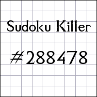 Zabójcze sudoku №288478