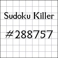 Zabójcze sudoku №288757
