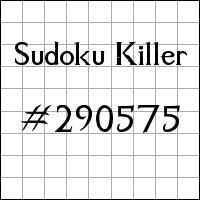Zabójcze sudoku №290575
