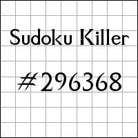 Zabójcze sudoku №296368