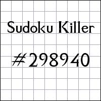 Zabójcze sudoku №298940