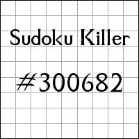 Zabójcze sudoku №300682