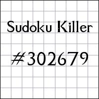 Zabójcze sudoku №302679