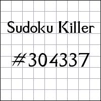Zabójcze sudoku №304337