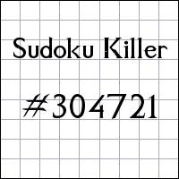 Zabójcze sudoku №304721