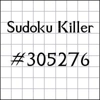 Zabójcze sudoku №305276