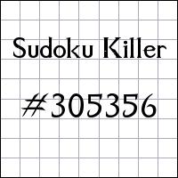 Zabójcze sudoku №305356