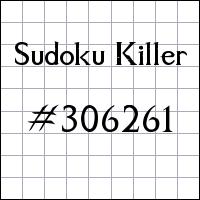 Zabójcze sudoku №306261