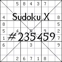 Sudoku X №235459