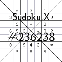 Sudoku X №236238