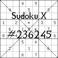 Sudoku X №236245