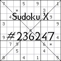 Sudoku X №236247
