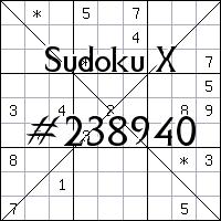 Sudoku X №238940