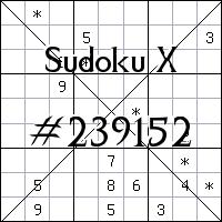 Sudoku X №239152