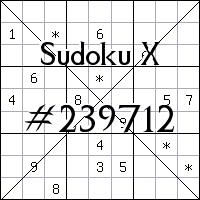 Sudoku X №239712
