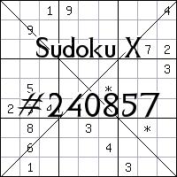 Sudoku X №240857