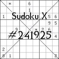 Sudoku X №241925
