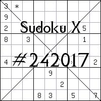 Sudoku X №242017