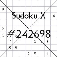 Sudoku X №242698