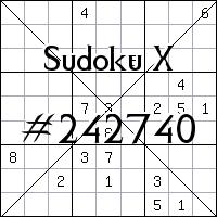 Sudoku X №242740