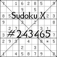 Sudoku X №243465