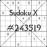 Sudoku X №243519