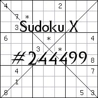 Sudoku X №244499
