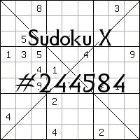 Sudoku X №244584