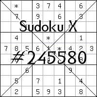Sudoku X №245580