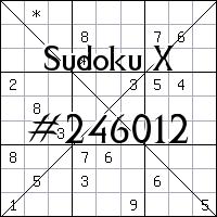 Sudoku X №246012