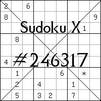 Sudoku X №246317