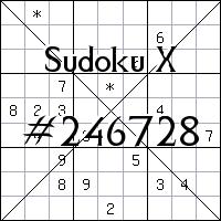 Sudoku X №246728